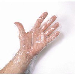 Clear Poly Gloves x 500