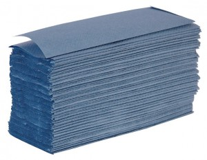 Blue Z Fold Hand Towels x3000 Per Case