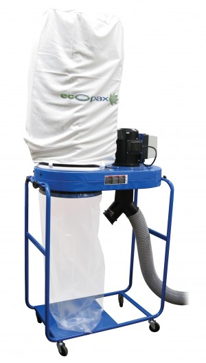 DUST EXTRACTOR ECOPAX WITH BAG 3mtr HOSE 1 PHASE